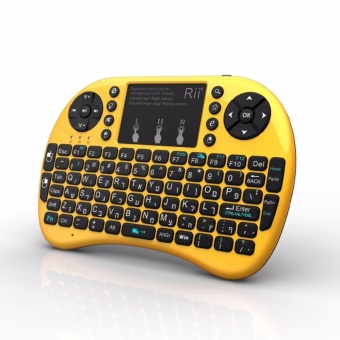 Harga Rii i8+ 2.4G RF Mini Wireless Keyboard Mouse Touchpad for HTPC Tablet Laptop PC Smart TV Android Box - intl