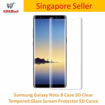 Samsung Galaxy Note 8 Case 3D Clear Tempered Glass Screen Protector 5D Curve