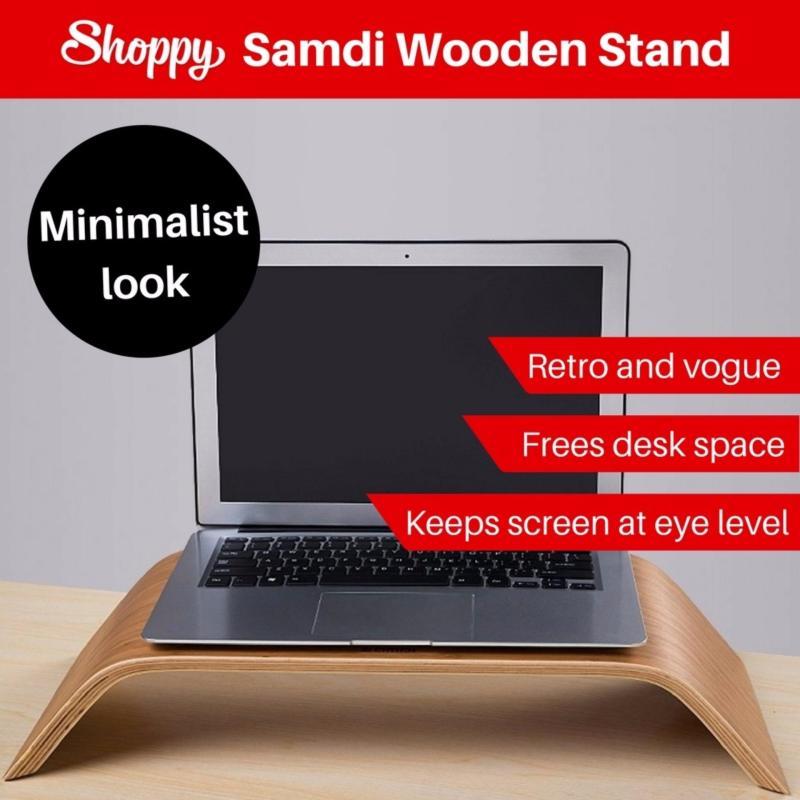 Shoppy Samdi Wooden Monitor Laptop iMac Macbook Stand (Pine)
