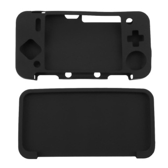 Silicone Cover Skin Case for New Nintendo 2DS XL /2DS LL Game Console(Black) - intl