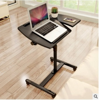 Harga Simple laptop computer desk mobile home LR lift table bedsidelearning table with wheel office writing table