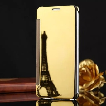 Smart Sleep Mirror Flip Case Cover For Samsung Galaxy S7 edge(gold)- intl