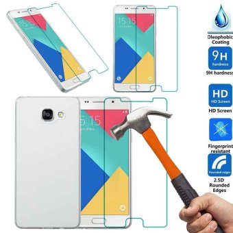 Soft TPU Case+Tempered Glass Screen Protector For Samsung Galaxy A5 A5100 2016 - intl
