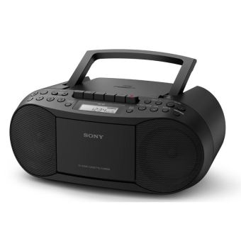 Sony CFD-S70 CD/Cassette Boombox with Radio (BLACK)