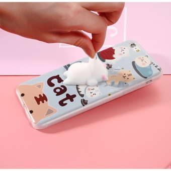 Squishy 3D Soft Silicone Cat Squish TPU Phone Case for iPhone 7 -intl