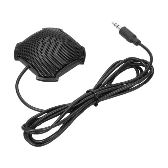 Stereo Omnidirectional Condenser Microphone Mic 3.5mm Connector for Meeting Business Conference Desktop Computer - intl