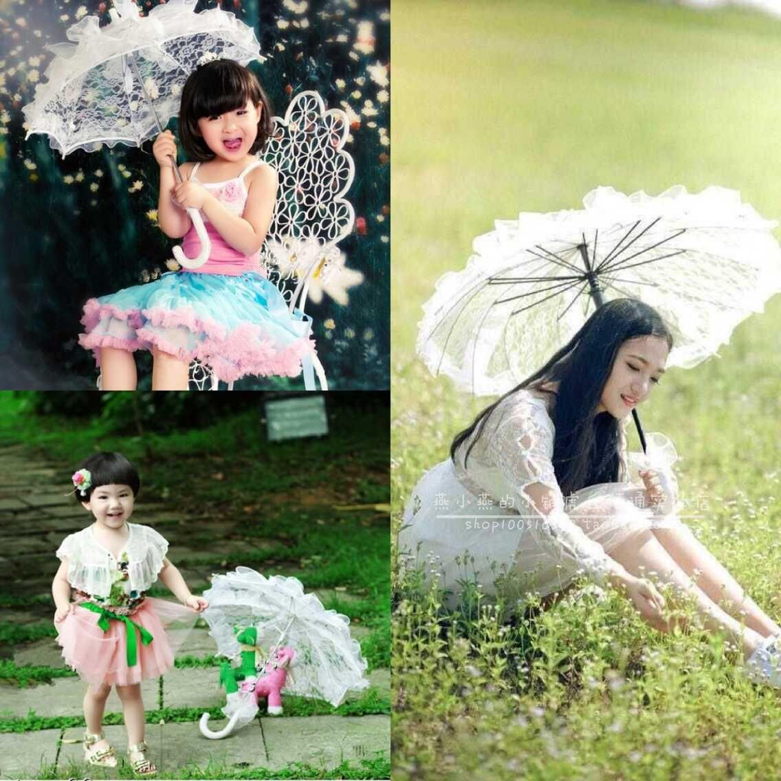 Studio shoot props wedding photography supplies childrenphotographed on location baby lace umbrella small lace umbrella