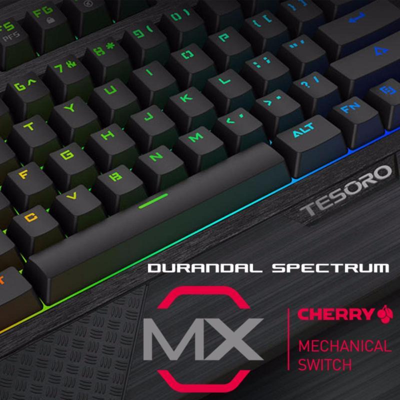 TESORO Durandal Spectrum Mechanical Gaming Keyboard MX Cherry BLUE Switch Singapore