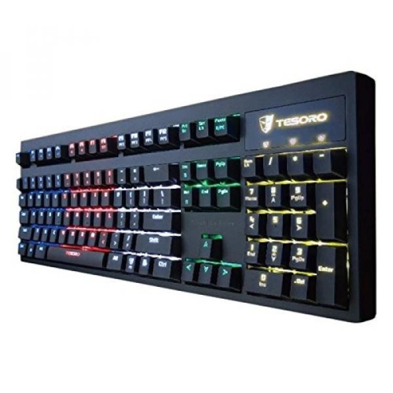 Tesoro Excalibur Blue Mechanical Switch RGB LED Backlit Illuminated Gaming Keyboard (TS-G7NFL (BL)) - intl Singapore