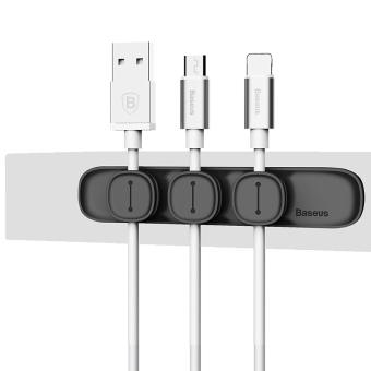 Times thinking data line magnetic car solid Clamp Cable management line is