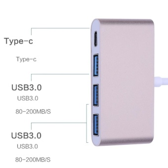 Type-C Male to Type-C and 3 USB3.0 Female HUB Adapter Charging Converter - intl - 4