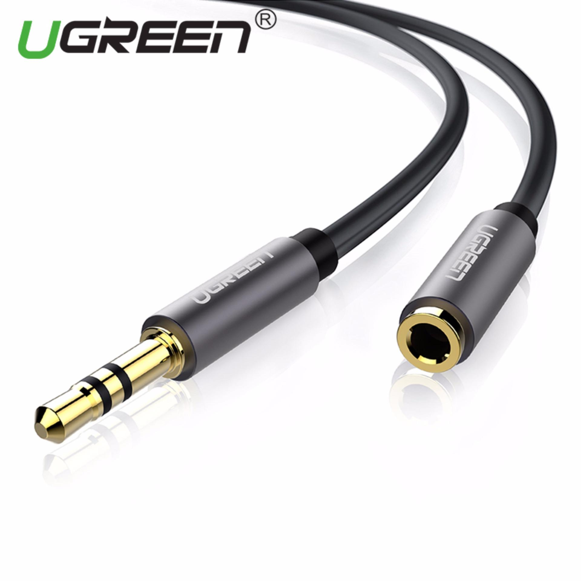 UGREEN 3.5mm Stereo Jack Audio Extension Cable with Aluminum Case (1m) Black - Intl Singapore