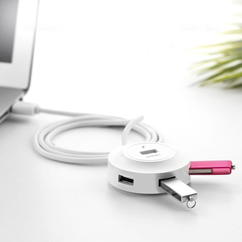 UGREEN 4 Ports USB 2.0 HUB Splitter for Mac, Windows, Linux Systems PC / Tablets, Cable Length: 50cm(White) - intl