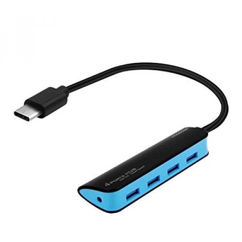 USB C HUB Macbook Pro 2016 Compatible, 1 Foot Long Cable, 4 Port USB, DC Jack - intl