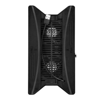 Vertical Stand Cooling Fan with 3 USB HUB for PS4 Slim or PS4 Pro Console - intl