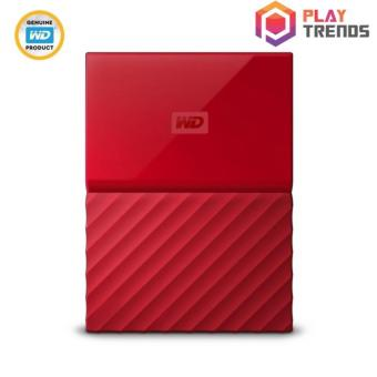 WD MY PASSPORT PORTABLE STORAGE RED - 1TB/2TB/4TB