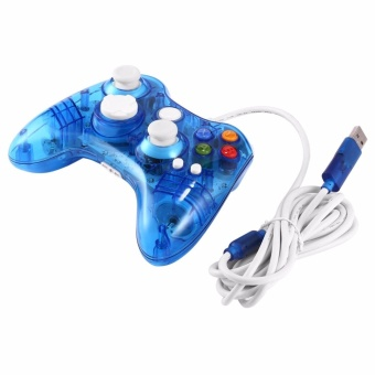 Harga Wired Transparent Game Pad USB Controller Joypad For XBOX 360/PC - intl