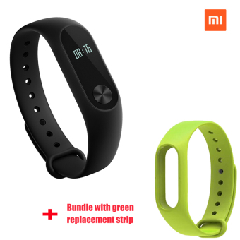 Xiaomi Mi Band 2 Smart Bluetooth Wristband+Green Replacement Strip(Bundle)