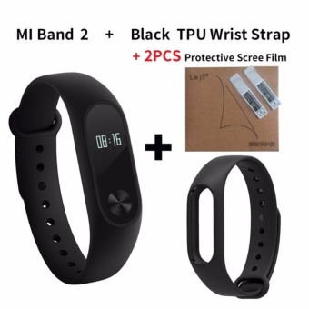 Xiaomi Mi Band 2 Smart Bluetooth Wristband+Replacement Strip(Bundle) - intl