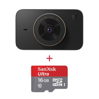 Harga Xiaomi MiJia Video Recorder Car DVR w/ SONY IMX323 Sensor, 16GBMemory - intl