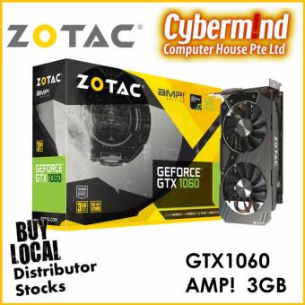 ZOTAC NVIDIA Geforce GTX1060 Amp! Edition 3GB Graphics Card