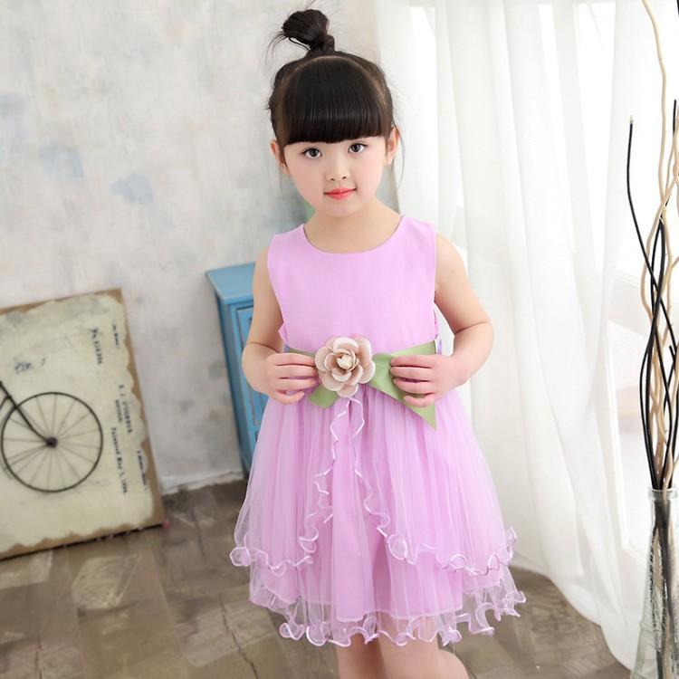 Anak prempuan Gaun Putri 2017 pakaian musim panas model baru gaun anak kecil Baju pertunjukan anak