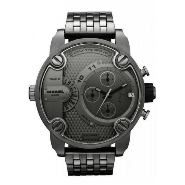 ยี่ห้อไหนดี  พระนครศรีอยุธยา Diesel_Men s Dark Grey 61mm Dial Stainless Steel Strap Chronograph Quartz Watch DZ7263