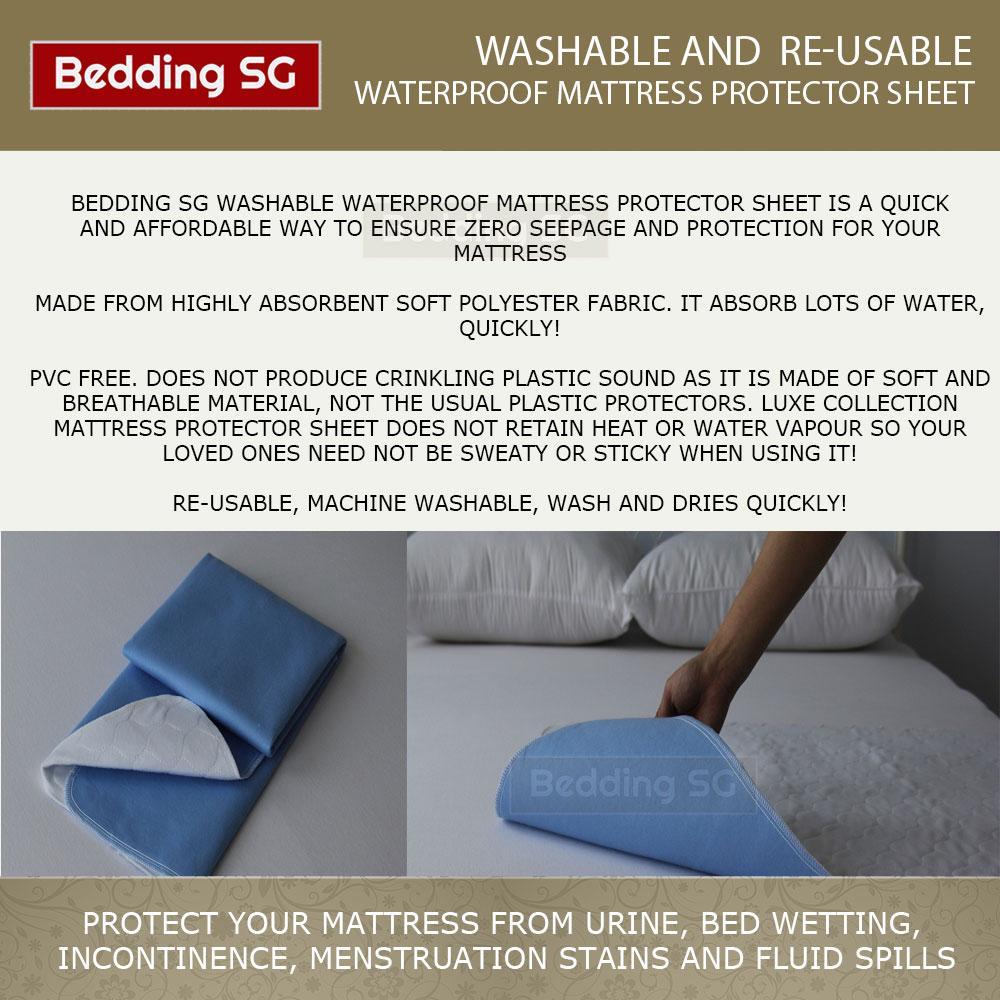 Waterproof Mattress Protector Sheet