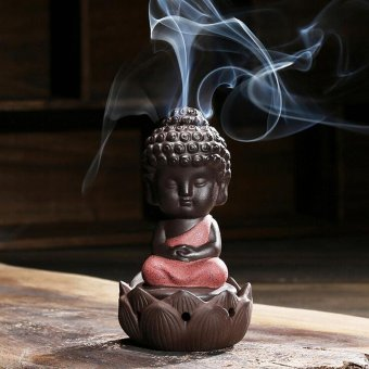 1 PC Buddha statue incense cones ceramic incense burner stove disc Incense burner sandalwood incense coil Buddha ornaments T0 - intl