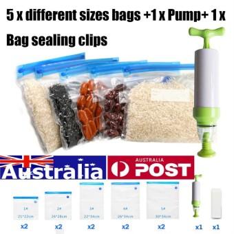 10Pcs Sous Vide Bags Reusable Vacuum Sealed Bag Food Saver Storage + Hand Pump - intl  sc 1 st  UpdateHarga.Trade & Compare Us Gisborne 22x30 Vacuum Storage Bags Food Bags Vacuum Bag ...