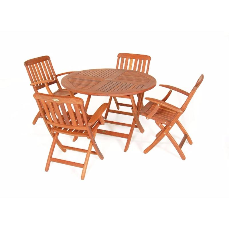 1100 Round Folding Table with Pegu Folding Arm Chairs