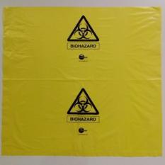 19 x 19 Yellow Biohazard Bag Autoclavable