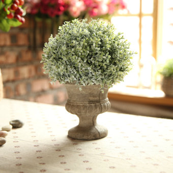 2  Business mini small potted ornaments simulation flower suit  small Bonsai green plant artificial flowers Decoration