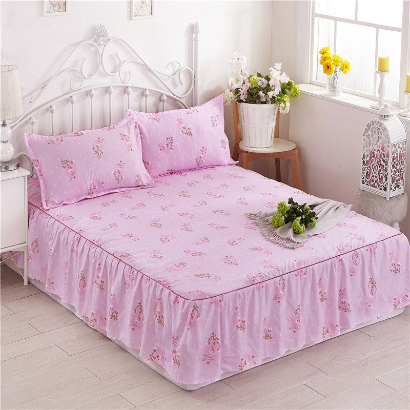2017 New style super soft bedspread bed skirt one-piece chuangbaodouble bed Korean-style princess lace bed skirt bedspread 1.8m bed
