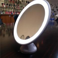 24 LED Suction Cup Rotating Magnifying Bathroom Mirror White