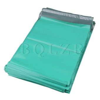 25x35cm Self-adhesive Shipping Envelopes Packaging Bags Set of 100Green - intl