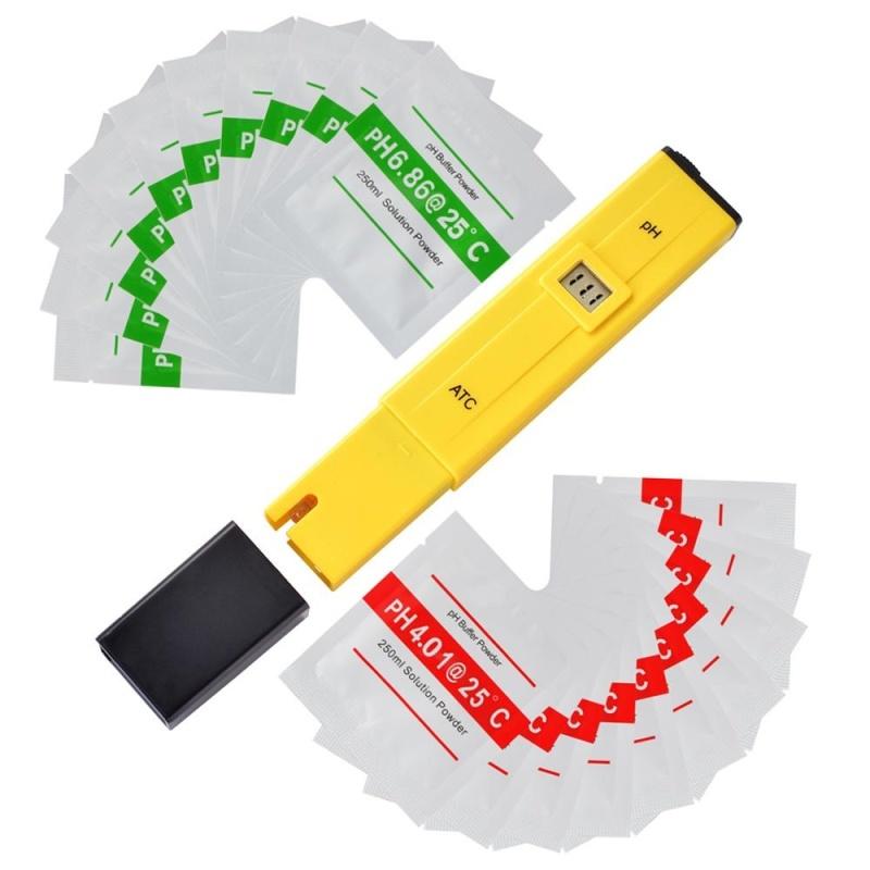 3-Digit LCD PH Meter Pen Portable Hydroponics Aquarium Pool Water Tester BI751 - intl
