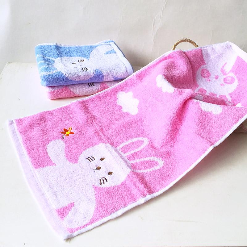 3 strip dress small towel cotton children face towel handkerchief kindergarten baby cotton towel across the Hanjin absorbent