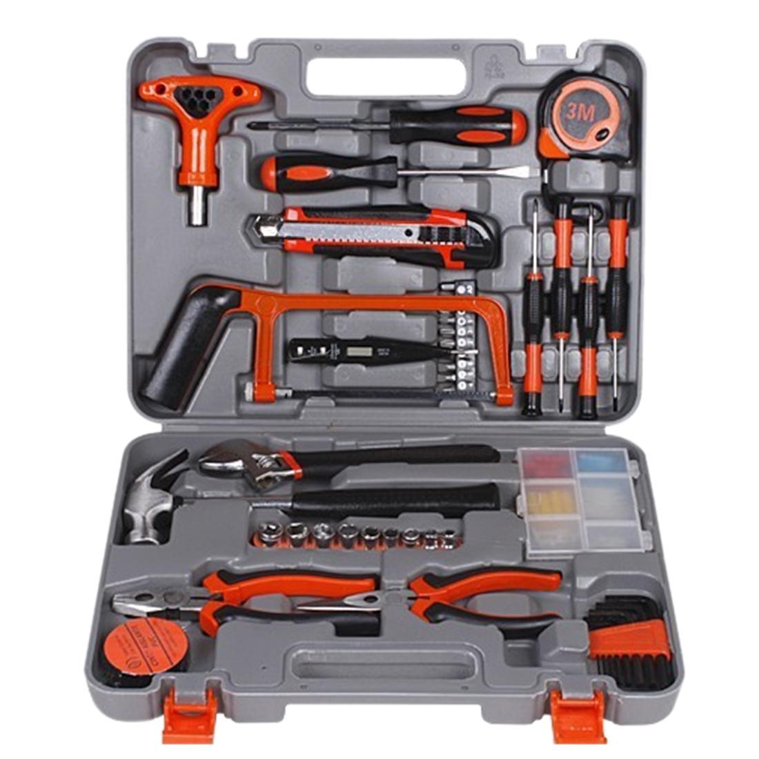 360DSC 82Pcs Set General Household-hardware Tool Kit With Toolbox Storage Case - intl