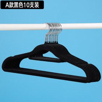 38cm velvet non-slip tie-sling-flocking hanger