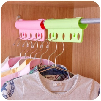 3PCS Creative 5 Holes Plastic Foldable Fixed Clothes Hanger Lock Windproof Clothing Rack Lock - intl - 4