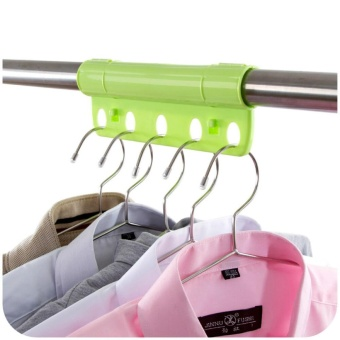 3PCS Creative 5 Holes Plastic Foldable Fixed Clothes Hanger Lock Windproof Clothing Rack Lock - intl - 3