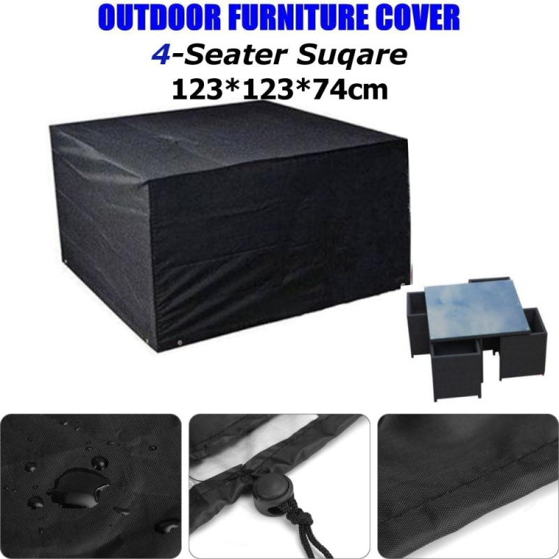 4 Seater Waterproof Outdoor Polyester Table Chair Patio Furniture Rain Cover - intl
