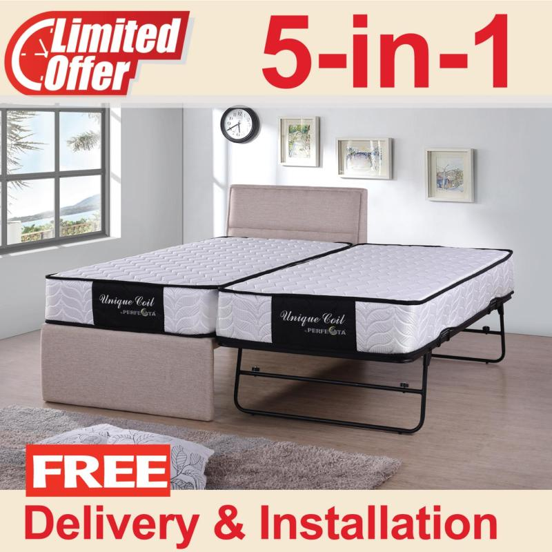 5 in 1 Single Pull out bed with 9-inch Unique Coil mattress
