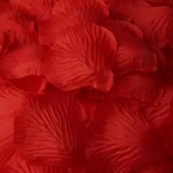 500Pcs Simulation Silk Rose Petals For Wedding Decor Party Bright Red New - 2