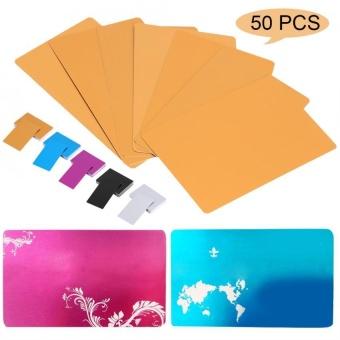 50Pcs Impressive Blanks Laser Mark Engraved Metal Business Visiting Name Cards (Black) - intl - 4