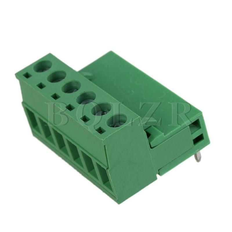 6 Pin Terminal Block Connector Set of 10 (Green)