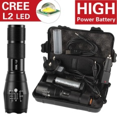6000LM Shadowhawk X800 L2 LED ZOOM Flashlight Torch Powerful battery - intl