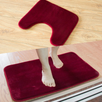 Absorbent non-slip bathroom toilet mat