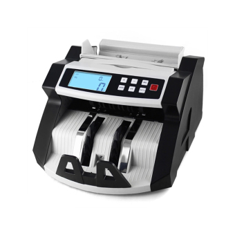Aibecy Automatic Multi-Currency Cash Banknote Money Bill Counter Counting Machine LCD Display with UV MG Counterfeit Detector for EURO US Dollar AUD Pound